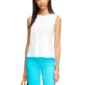 Brooks Brothers peplum blouse. D